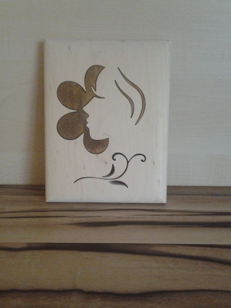 flower face wood picture
