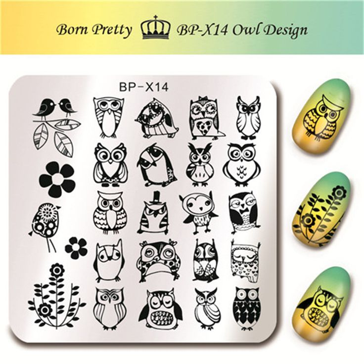 Nail Art Bunga: 1 Pc LAHIR CUKUP Nail Art Stamp Gambar Plat Template Lucu