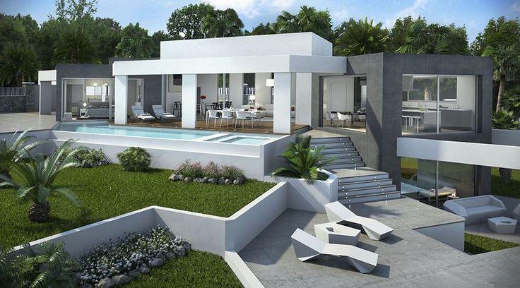 Oltre 25 fantastiche idee su giardini moderni su pinterest for Giardini case moderne