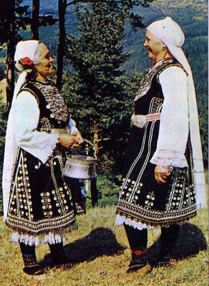 FolkCostume&Embroidery: Costume of Sofia area, Shop region, Bulgaria
