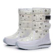 2016 mulheres botas de neve do floco de neve de algodão à prova d' água sapatos de super quentes de inverno das mulheres botas do tornozelo da plataforma alishoppbrasil