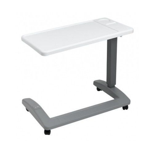 Overbed Hospital Table Bed Adjustable Over Wheelchair Tray Rolling Medical Chair #Carex