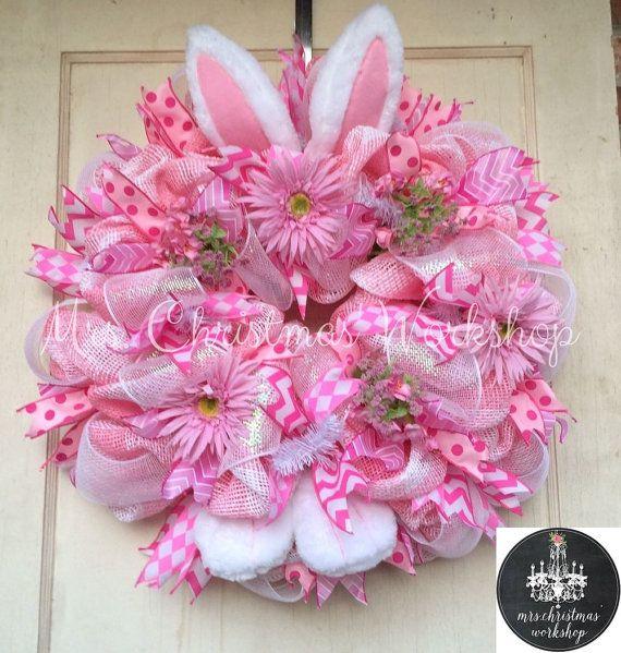 Spring Sale Deco paper mesh Easter bunny by MrsChristmasWorkshop