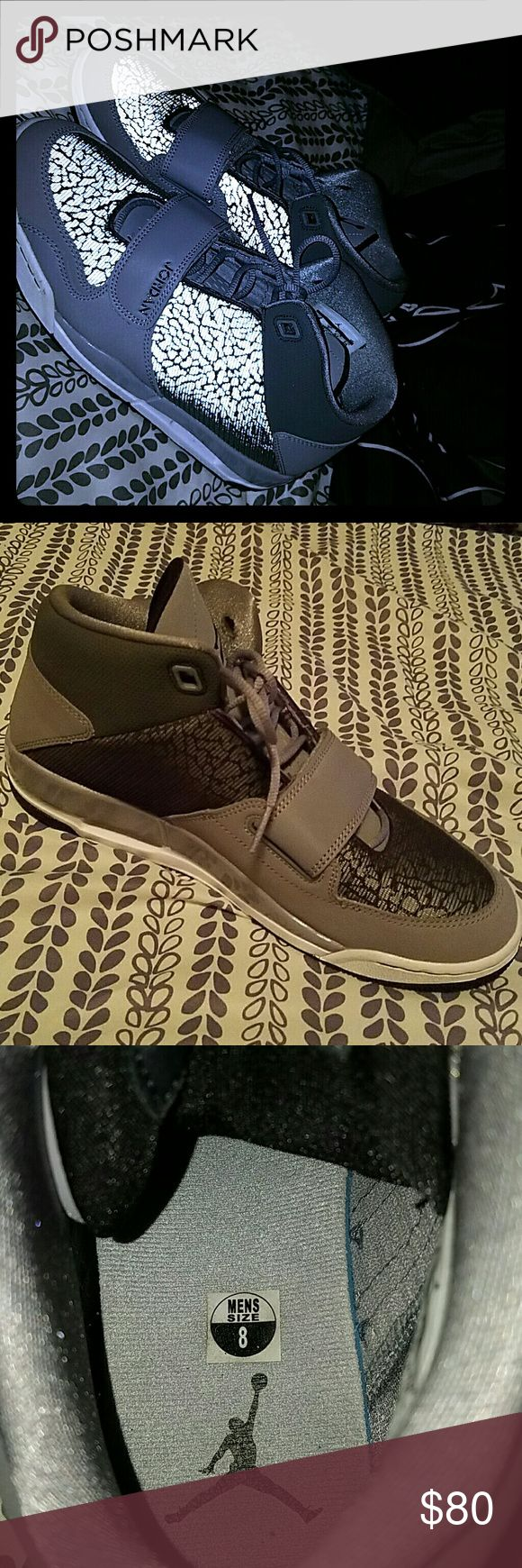 "Jordan Flight Club '90 ""Grey Elephant"" Size 8 Mens Size 8, Lightly Worn maybe 2x No Original Boxing Jordan Shoes Sneakers"