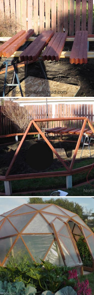 GeoDome Greenhouse. I sure want this. Doubles as a getaway/hideout/hippie-gypsy tent!!
