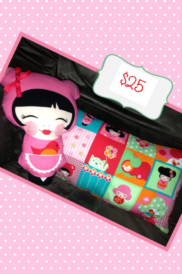 Matching doll and cushion
