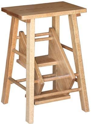 The solid wood Folding Step Stool from Amish Outlet Store folds in for easier storage. Shop this product and more at up to 33% off at Amish Outlet Store.