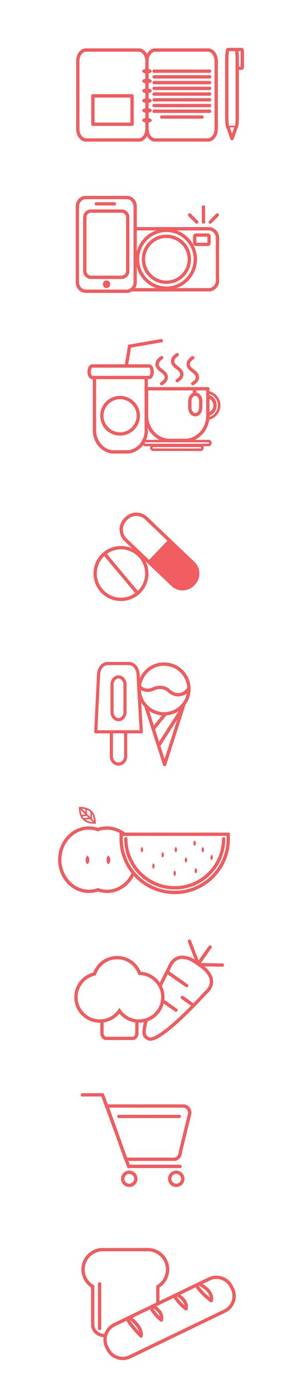 best images about graphic design cv supermarket pictograms design by jino kwee via behance