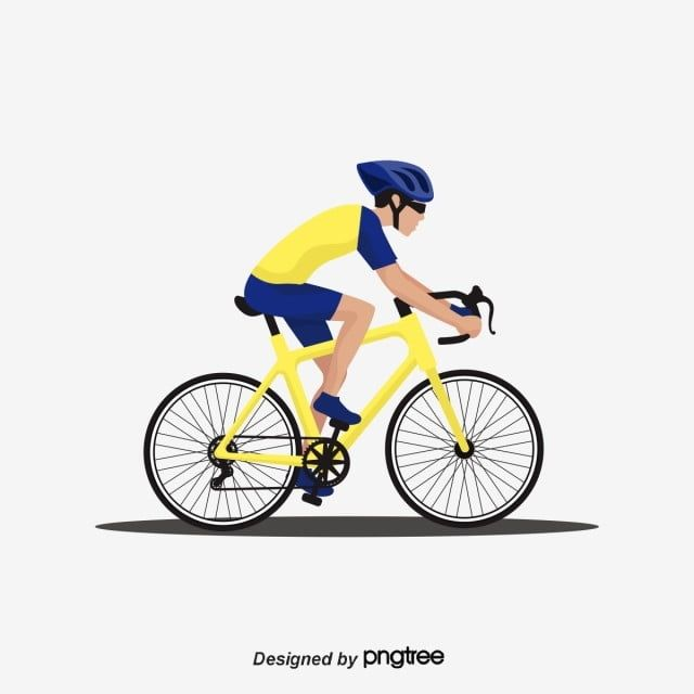 Cartoon Characters Ride Bicycles Bicycle Blue Yellow Png And Vector With Transparent Background For Free Download Bicycle Illustration Bicycle Cute Cartoon Boy