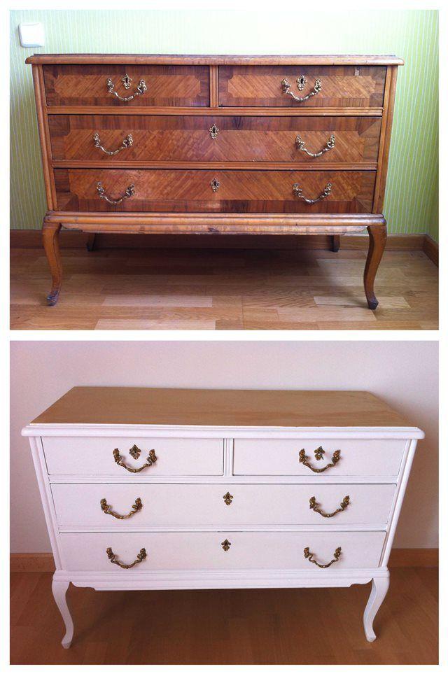 Las 25 mejores ideas sobre muebles cl sicos en pinterest y - Muebles antiguos pintados de blanco ...