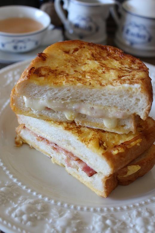 モンテクリストサンドイッチほか。脱マンネリ朝ごはん。