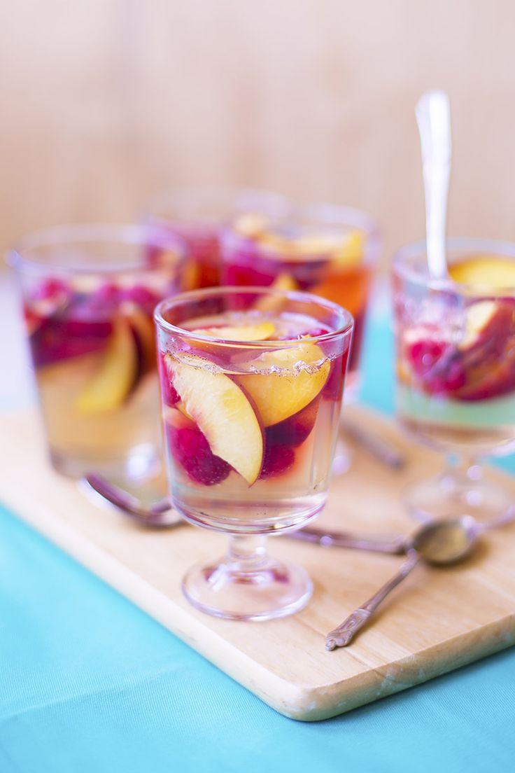 Elderflower Peach & Raspberry Jellies // The Sugar Hit