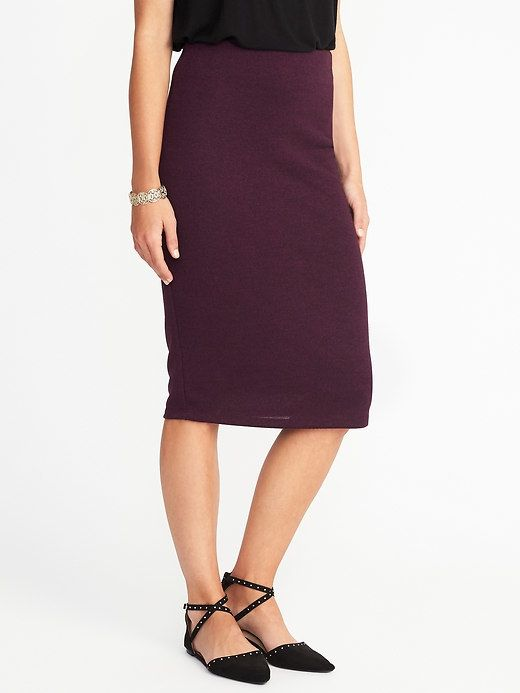 Old Navy Jersey-Knit Midi Pencil Skirt for Women