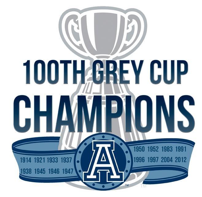 Toronto Argonauts 100th Grey Cup Champions 2012