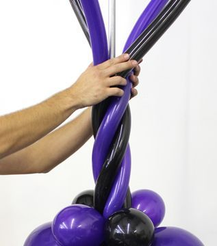 25 best ideas about balloon columns on pinterest for Balloon decoration how to make
