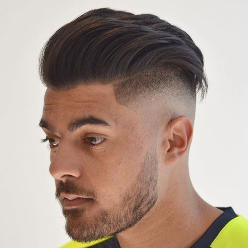 Skin Fade Undercut with Textured Slicked Back Hair