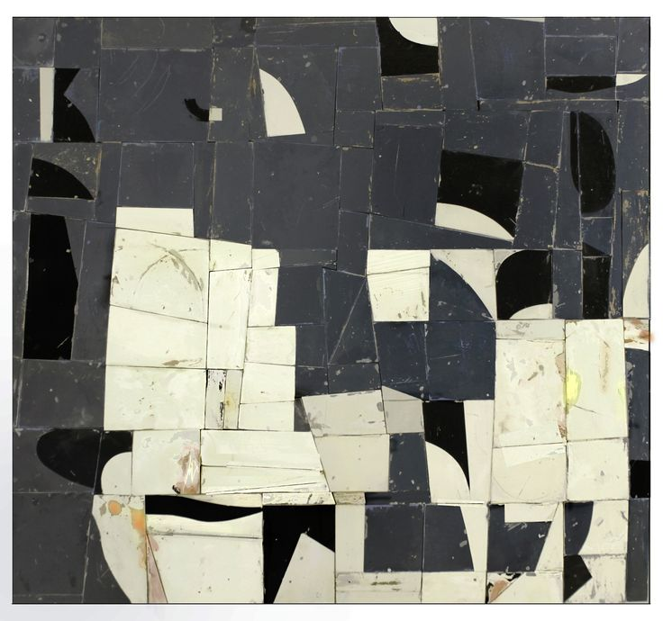 "Greg Pretty, Unidentified, 2018   51 x 56""  acrylics on plywood pieces"