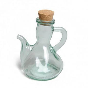 Olie- of azijnkannetje, groen gerecycled glas , 250 ml
