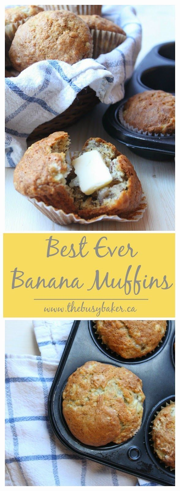 Previous pinner: These are the best banana muffins I have ever had! And so simple to make!