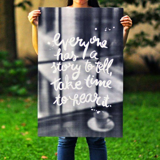 Learn how to make a custom poster with your own lettering