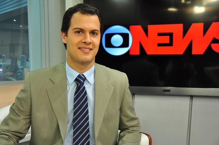 Guilherme Rios Cardoso at Globo News Studio in Rio de Janeiro
