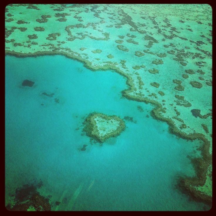 Heart reef -great barrier reef australia