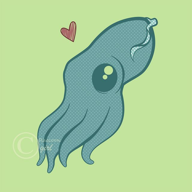 Cute print ~Cuttlefish by TheRaccoonGirl~