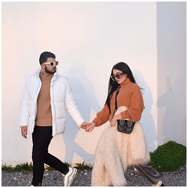 Do you guys enjoy wearing neutrals in the winter ❄️? #couple #couplegoals #relationshipgoals #bloggers #styleblogger #neutrals #outfit #clossfashion