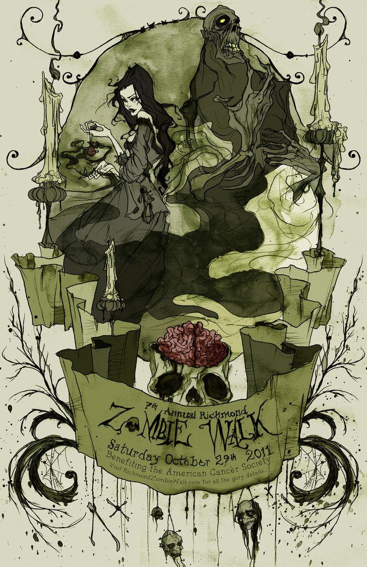 Zombie Walk Poster 2011 by AbigailLarson.deviantart.com