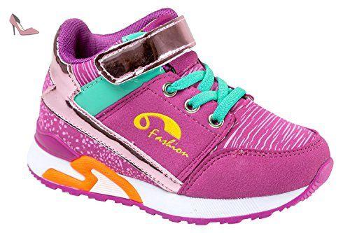 gibra , Baskets pour garçon - rose - pink/mint, - Chaussures gibra (*Partner-Link)