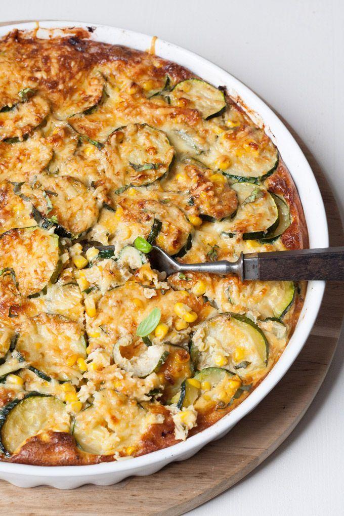 Zucchini-Mais-Quiche ohne Boden. Extraksig und verdammt gut - kochkarussell.com