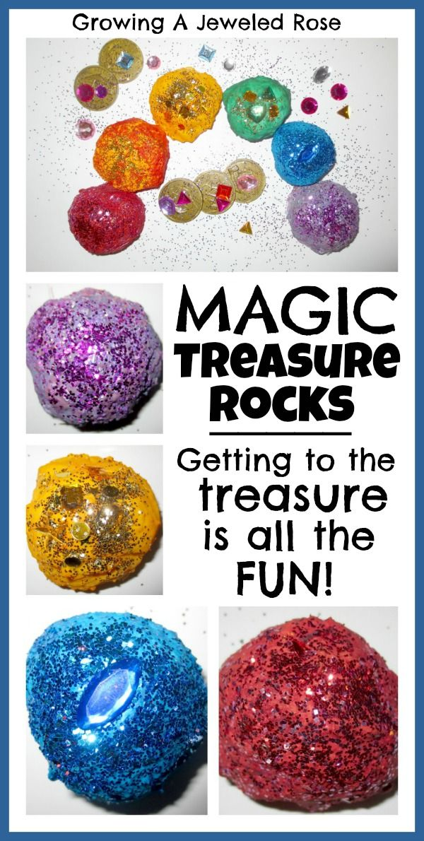 Treasure Rocks http://www.growingajeweledrose.com/2013/01/magic-treasure-rocks.html?m=1