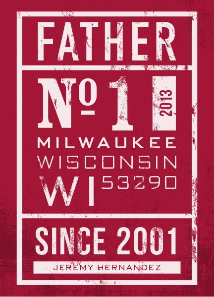 no. 1 father's day greeting card from minted.com