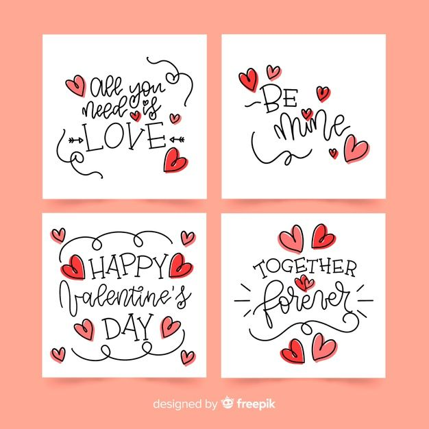 Download Calligraphic Valentine Card Collection For Free Valentines Cards Happy Valentines Day Card Valentines Day Drawing