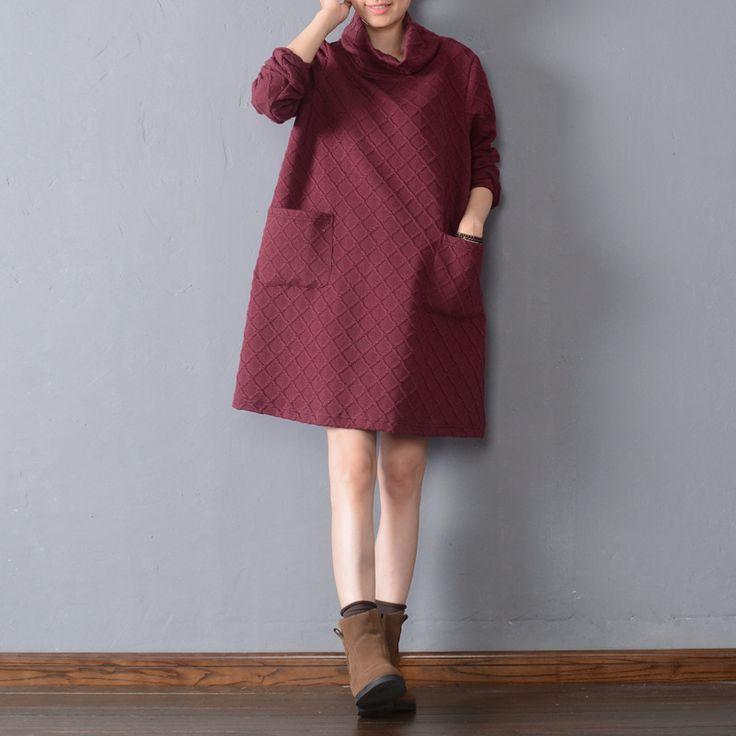 Pressure cotton plaid dress - Buykud  - 4