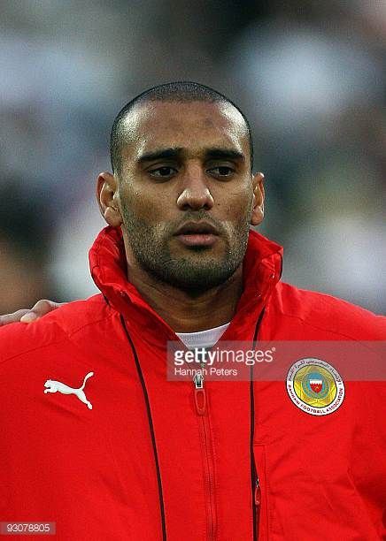 Sayed Mohamed Jaffar of Bahrain sings the national anthem before the FIFA World Cup Asian Qualifying match between New Zealand and Bahrain at Westpac...