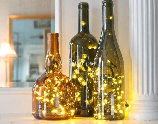 Şarap Şişesinden LED lamba yapımı