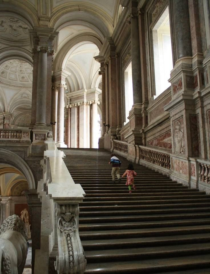 Palace of caserta naples italy monumental staircase palaces pinterest naples the o 39 jays - Interior designer caserta ...
