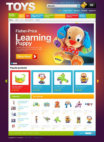 Toys Store osCommerce Templates by Mercury