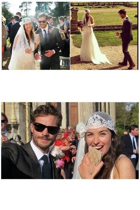 """Dornan's wedding "" Jamie Dornan and Amelia Warner"