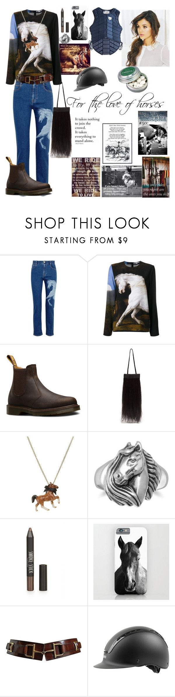 """""""For the love of horses"""" by lu-lawrence ❤ liked on Polyvore featuring STELLA McCARTNEY, Dr. Martens, Helmut Lang, And Mary, BillyTheTree, Topshop and Uvex"""
