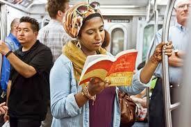 Znalezione obrazy dla zapytania reading in train standing