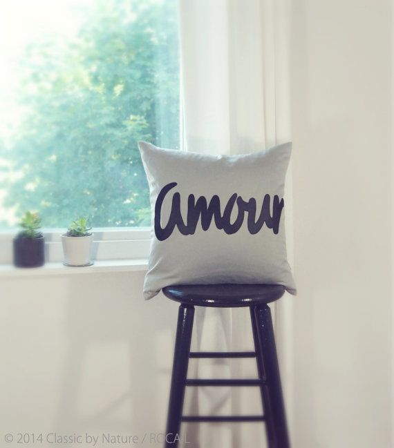 20x20 Personalized Word Pillow / Letters Symbol by ClassicByNature, $48.00