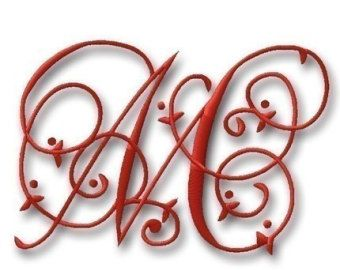 Maisie Monogram Font Set 4 and 5 by Embroitique on Etsy