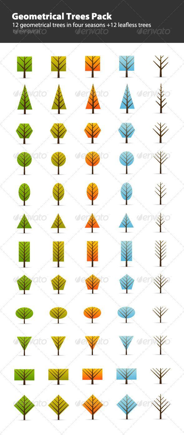Geometrical Trees Pack