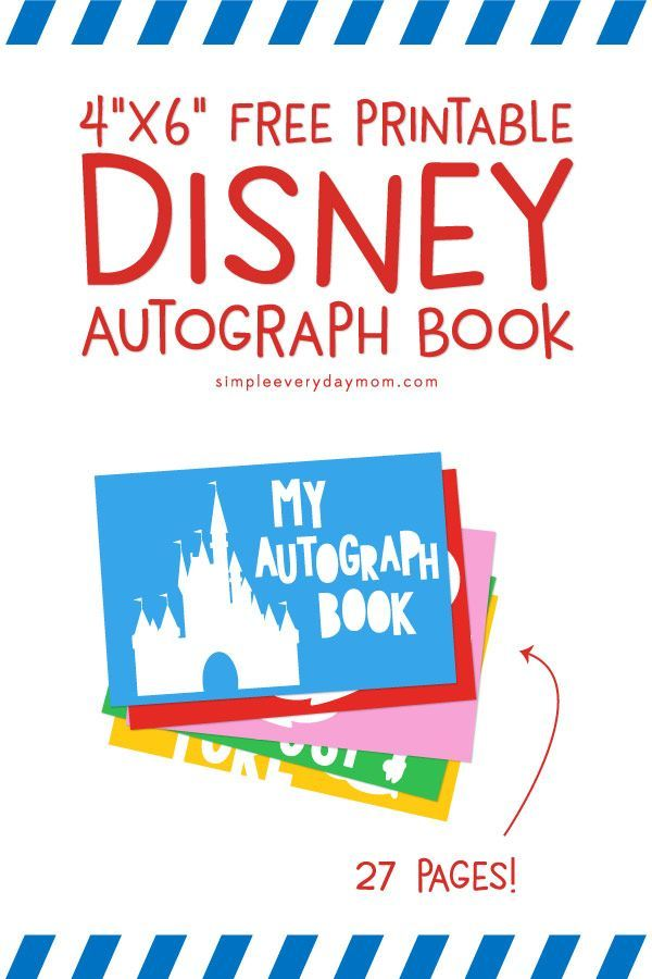 Disneyland Epcot Autograph Photo Disney World Epcot  Autograph Book Printable Epcot Autograph card