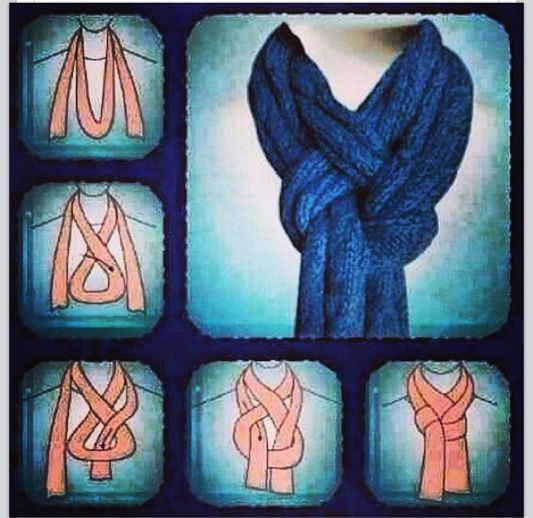 Another way to tie a scarf...