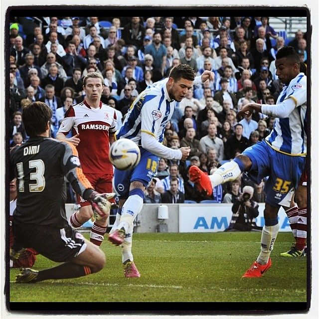 2 for the price of 1 #football #soccer #skybet #championship #brighton #hove #albion #seagulls #jesse #lingard #shot