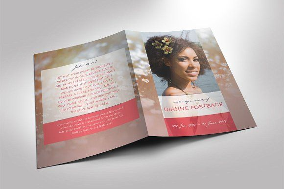 Modern Funeral Program Template By Seraphimchris On