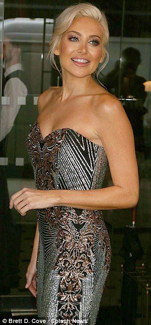 MIC's Stephanie Pratt steps out in a metallic silver dress   Daily Mail Online